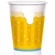 6 Paper Cups Beer Design Oktoberfest 450 ml / 15 fl.oz