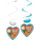 4 Swirl Deocrations Oktoberfest Gingerbread Hearts 80 cm / 31.5 inches