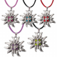 1 Edelweiss Necklace With Cord, Assorted Colors