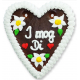 """Gingerbread Heart Medium """"I mog Di"""""""