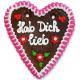 "Gingerbread Heart Medium ""Hab Dich Lieb"""